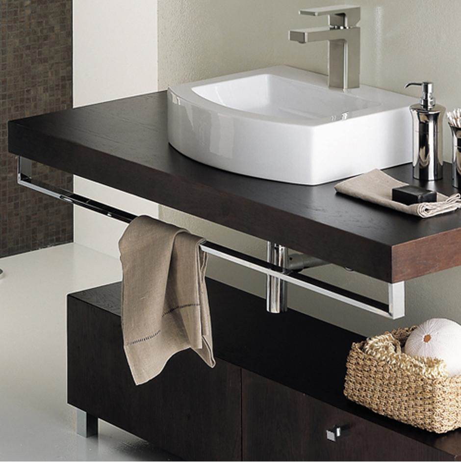 Lacava Countertop-mounted metal towel bar, 39''W, 4 7/8''H