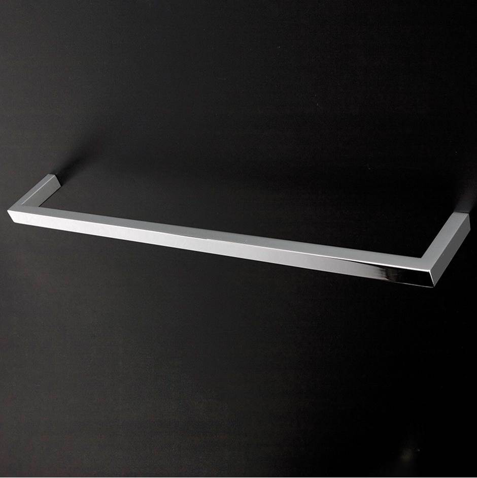 Lacava Wall-mount towel bar made of chrome plated brass W: 23 5/8'', D: 3 1/8'', H; 3/4''.
