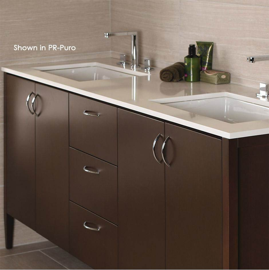 Lacava Counter top for double vanity LRS-F-72 with cut -outs for Bathroom Sink 5062UN. W: 60'', D: 21'', H: 3/4''.