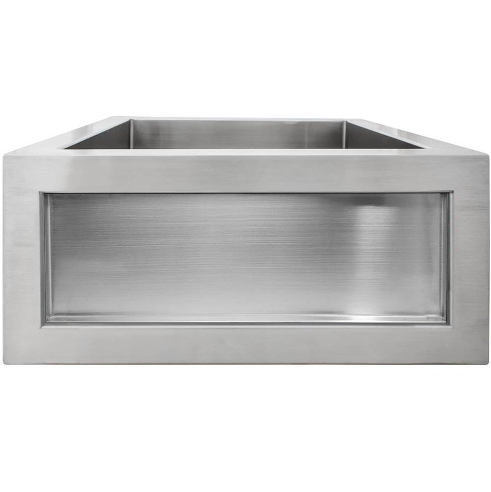 Linkasink Inset Apron Front Bar Sink - Satin (Price Does Not Inlcude Inset Panel)