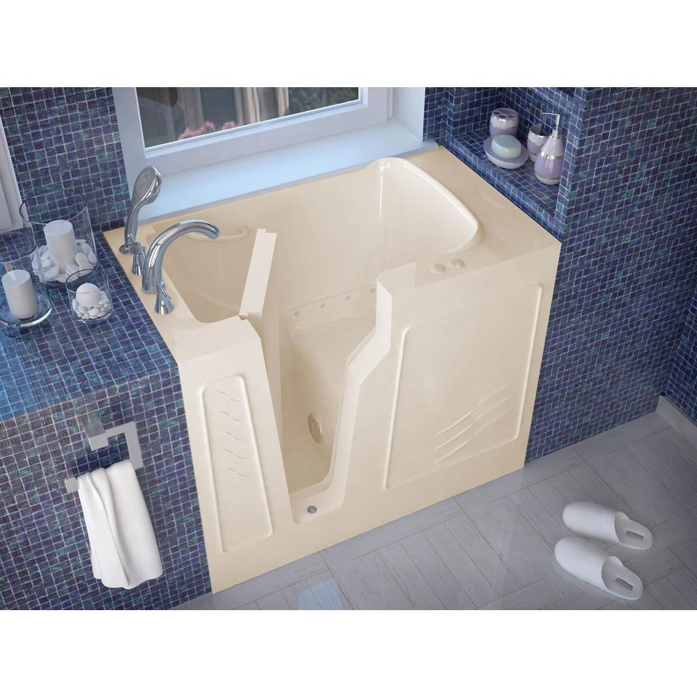 Meditub MediTub Walk-In 26 x 46 Left Drain Biscuit Air Jetted Walk-In Bathtub
