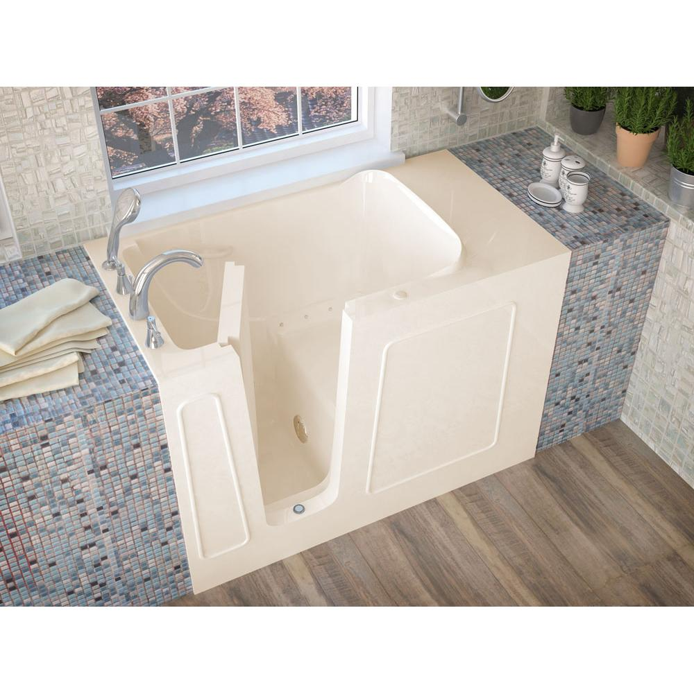 Meditub MediTub Walk-In 26 x 53 Left Drain Biscuit Air Jetted Walk-In Bathtub