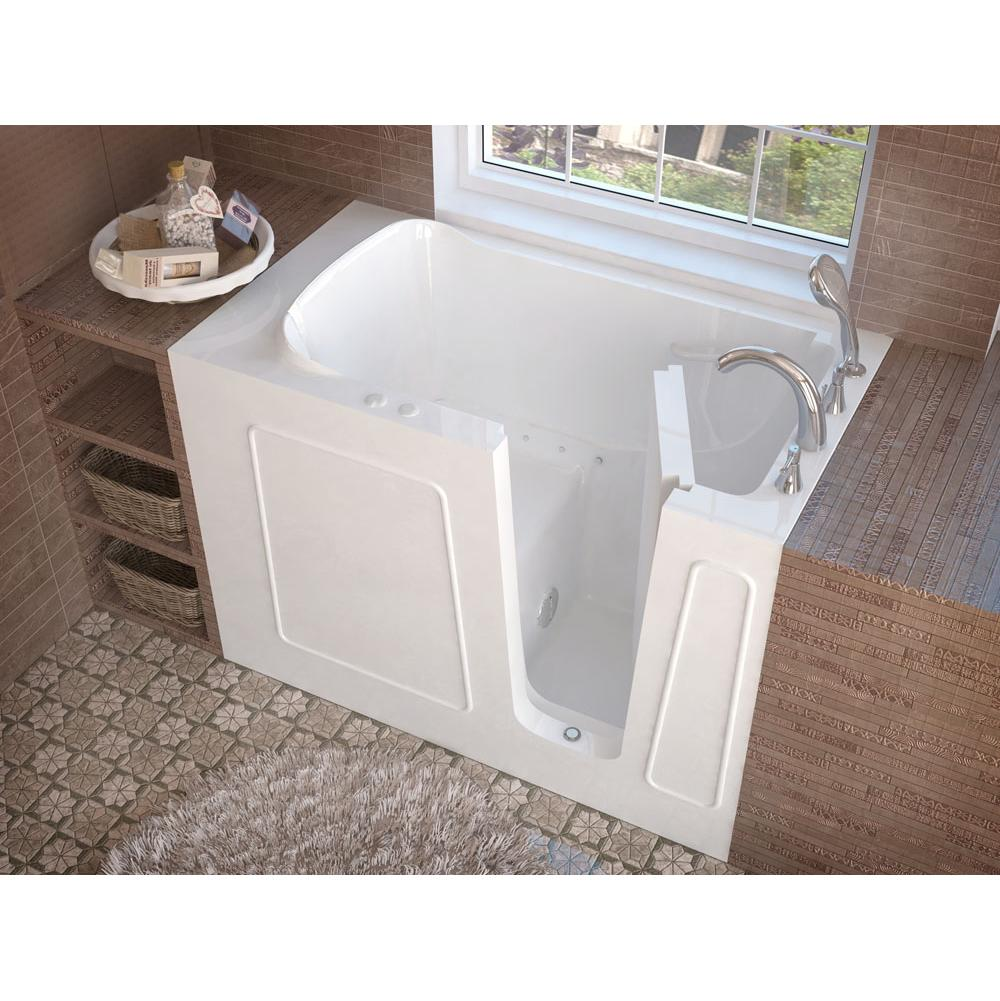 Meditub MediTub Walk-In 30 x 53 Right Drain White Air Jetted Walk-In Bathtub