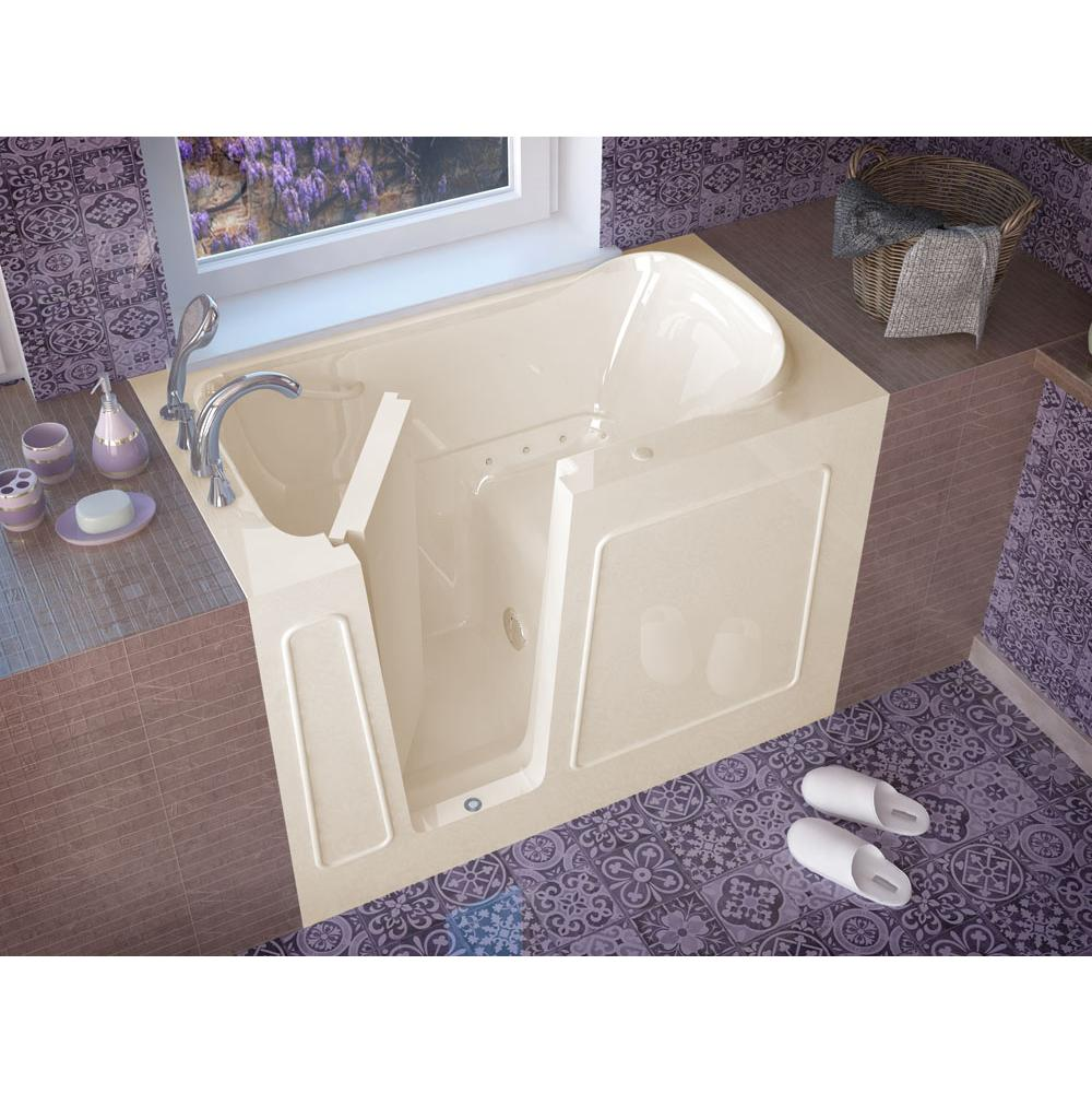Meditub MediTub Walk-In 30 x 54 Left Drain Biscuit Air Jetted Walk-In Bathtub