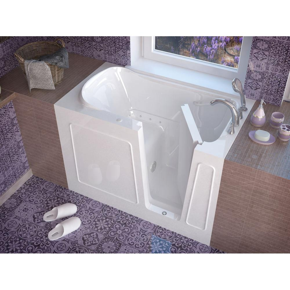 Meditub MediTub Walk-In 30 x 54 Right Drain White Air Jetted Walk-In Bathtub