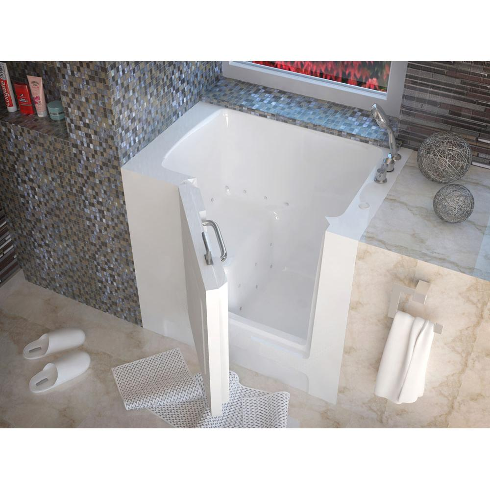 Meditub MediTub Walk-In 31 x 40 Right Drain White Air Jetted Walk-In Bathtub