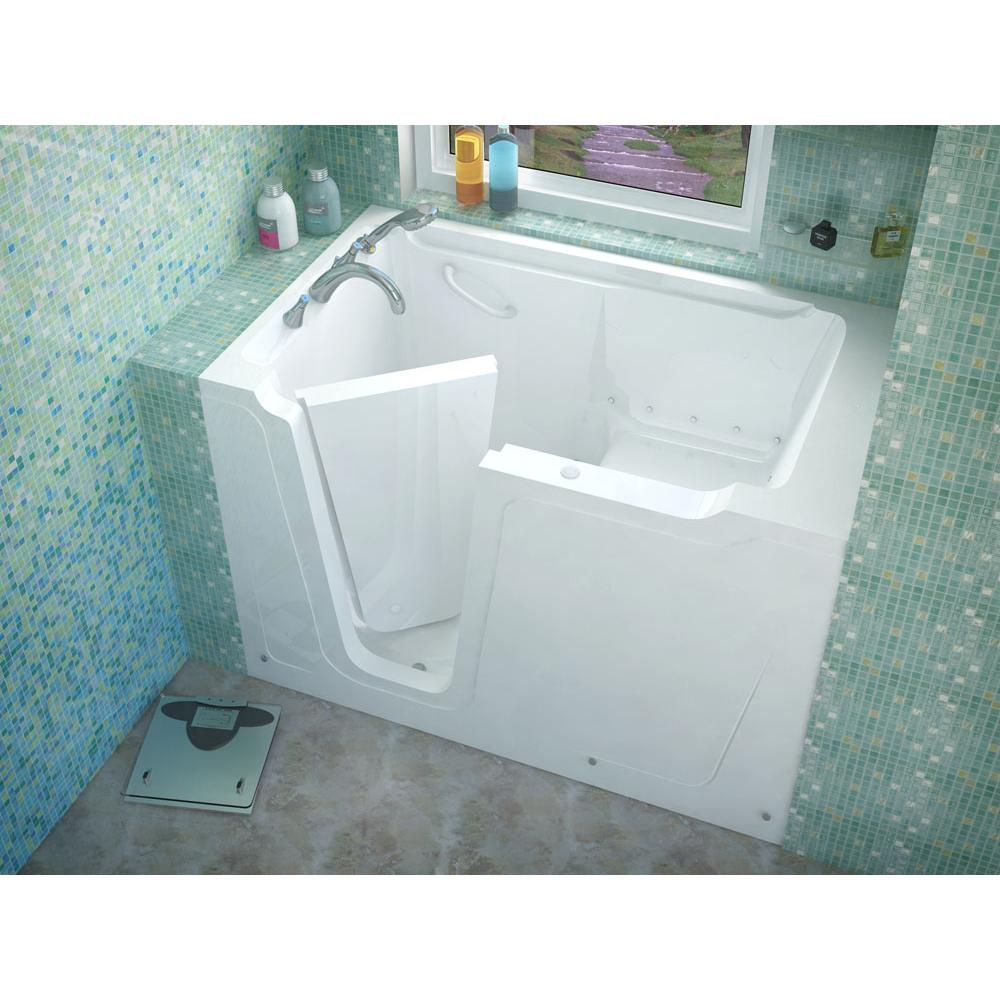 Meditub MediTub Walk-In 36 x 60 Left Drain White Air Jetted Walk-In Bathtub