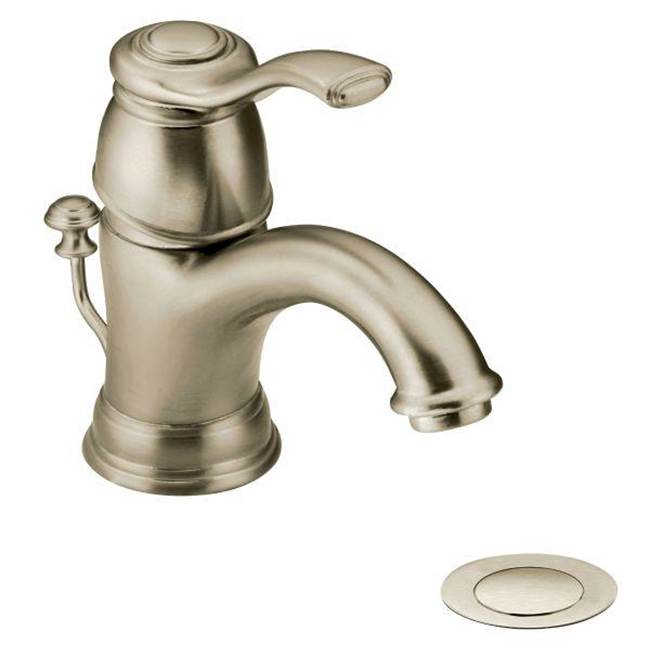 Moen Brushed nickel one-handle bathroom faucet