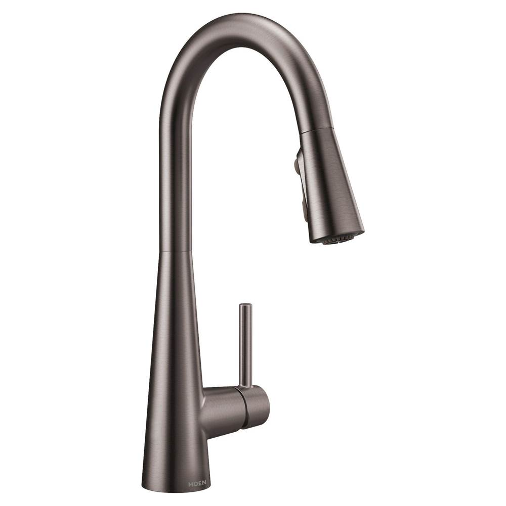 Moen Black stainless one-handle pulldown kitchen faucet
