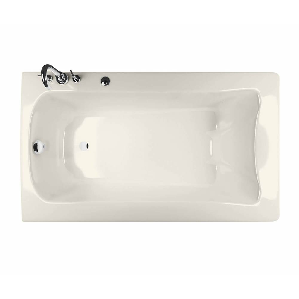Maax Release 59.75 in. x 32 in. Alcove Bathtub with Left Drain in Biscuit