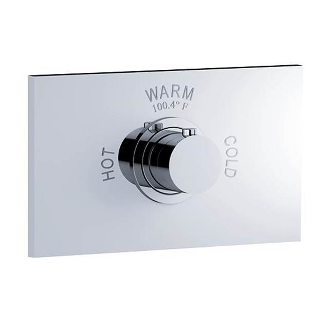Rohl Jorger Charleston Square Trim Set Only For Thermostatic Shower Valve In Polished Nickel