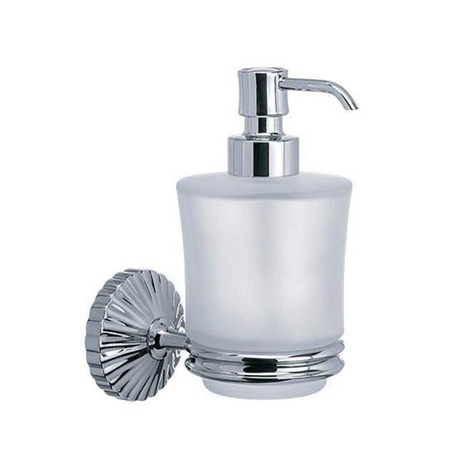 Rohl Mounted Soap Dispenser Holder In Satin Nickel