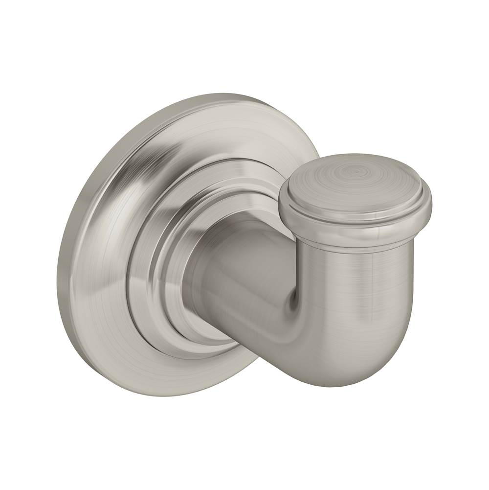 Symmons Winslet Wall-Mounted Robe Hook in Satin Nickel