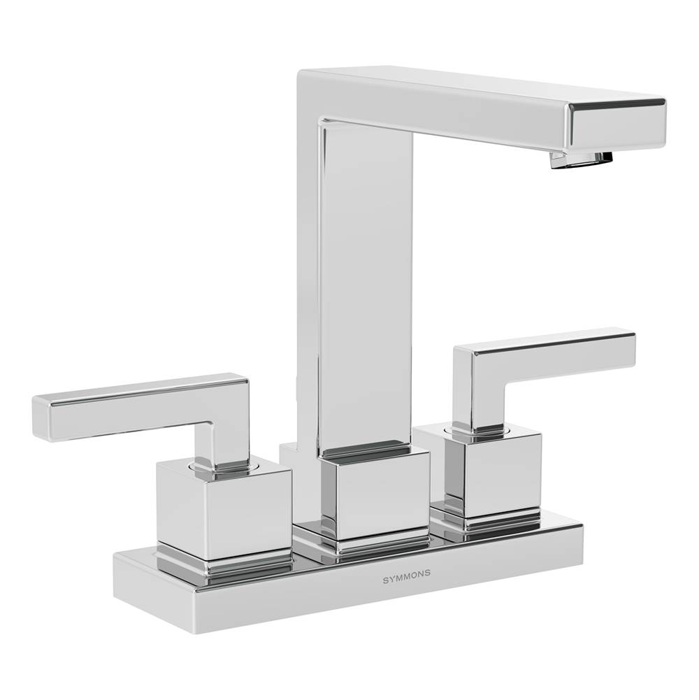 Symmons Duro 4 in. Centerset 2-Handle Bathroom Faucet with Drain Assembly in Polished Chrome (1.5 GPM)