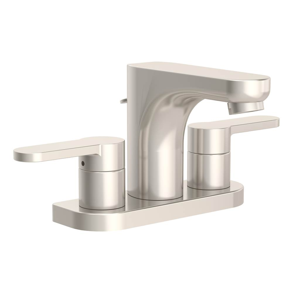 Symmons Identity 4 in. Centerset 2-Handle Bathroom Faucet with Drain Assembly in Satin Nickel (1.5 GPM)