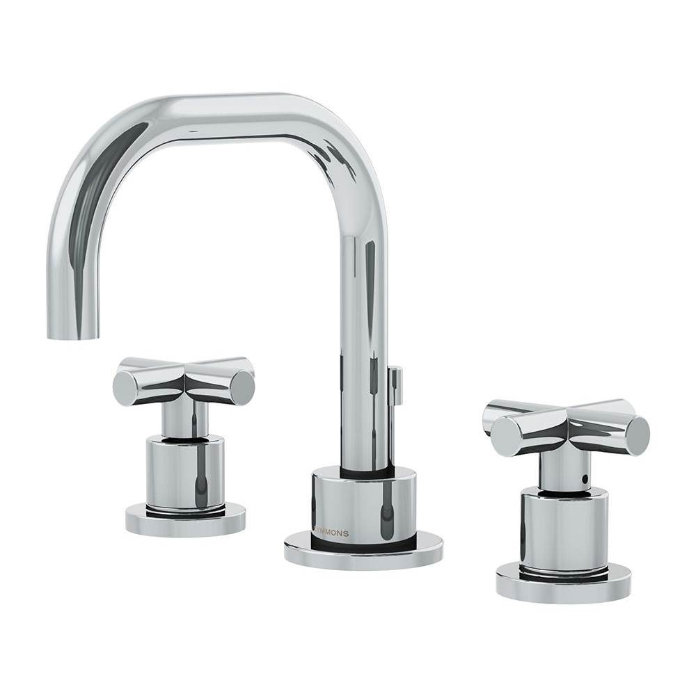 Symmons Dia Widespread 2-Handle Bathroom Faucet with Drain Assembly in Polished Chrome (1.5 GPM)