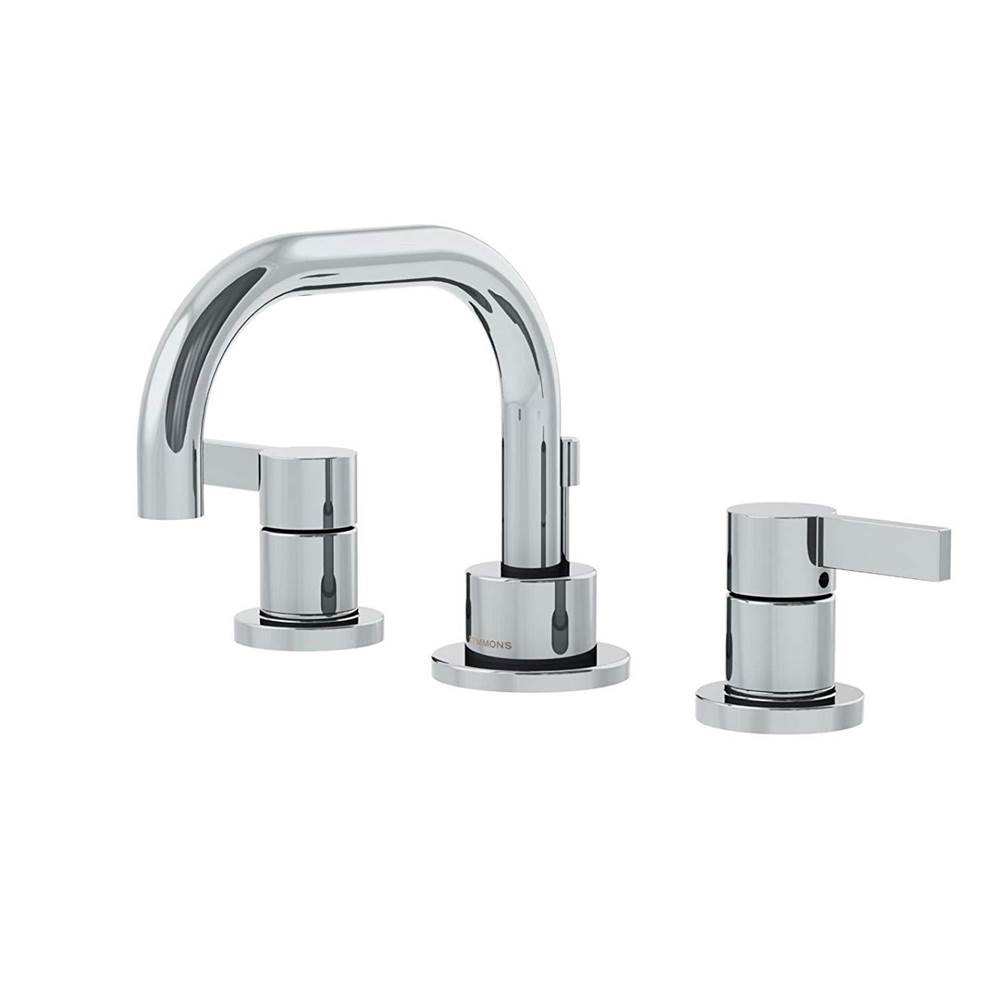 Symmons Dia Widespread 2-Handle Bathroom Faucet with Drain Assembly in Polished Chrome (1.0 GPM)