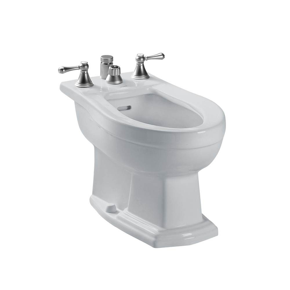 Toto Clayton® Deck Mount Vertical Spray Flushing Rim Bidet, Colonial White
