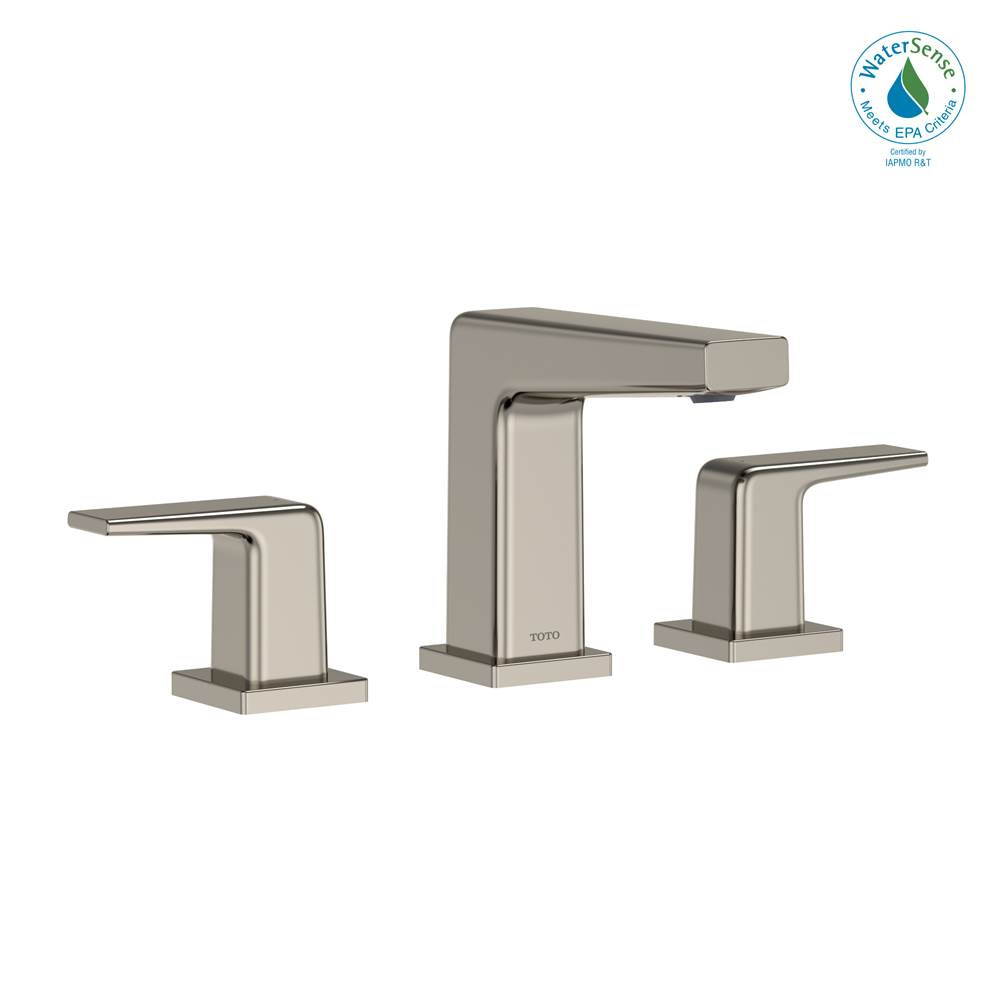 Toto GB 1.2 GPM Two Handle Widespread Bathroom Sink Faucet, Polished Nickel