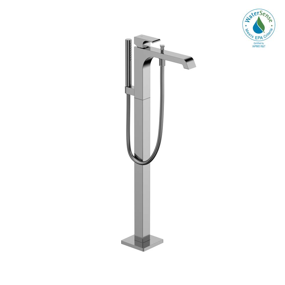 Toto GC Single-Handle Free Standing Tub Filler with Handshower, Polished Chrome