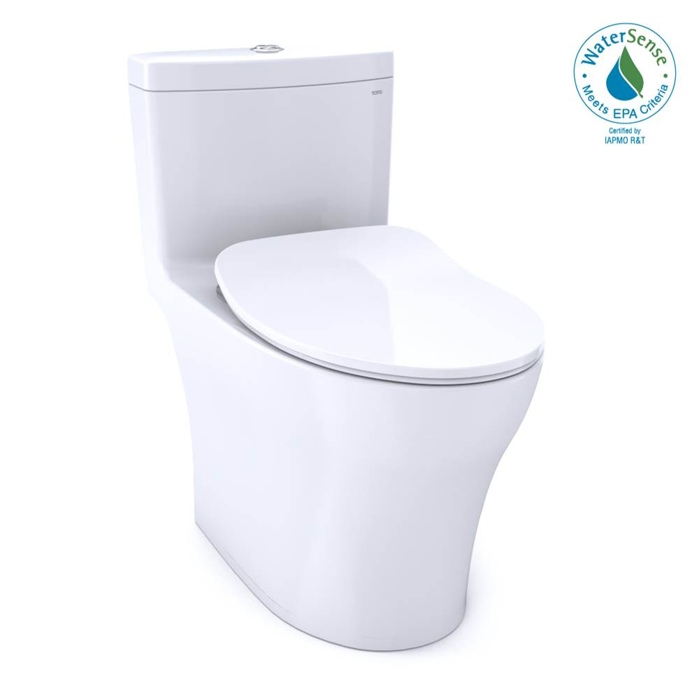 Toto Aquia® IV One-Piece Elongated Dual Flush 1.0 and 0.8 GPF Universal Height, WASHLET®+ Ready Toilet with CEFIONTECT® Cotton White