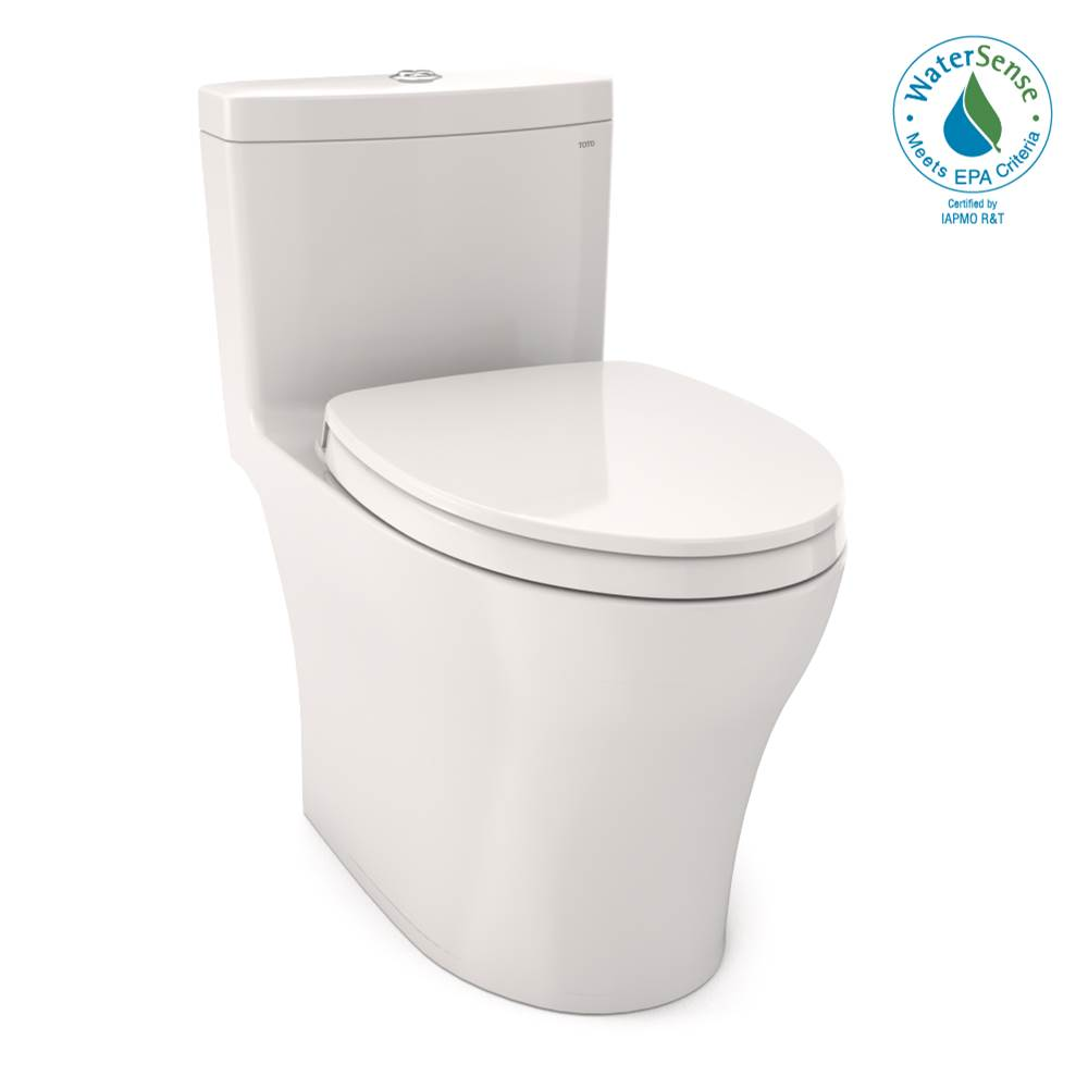 Toto Aquia® IV One-Piece Elongated Dual Flush 1.0 and 0.8 GPF Universal Height, WASHLET®+ Ready Toilet with CEFIONTECT®, Colonial White