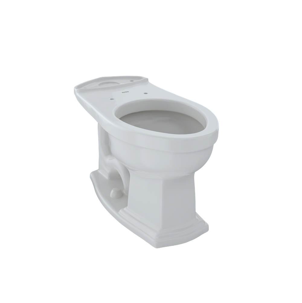 Toto Eco Clayton® and Clayton® Universal Height Elongated Toilet Bowl, Colonial White