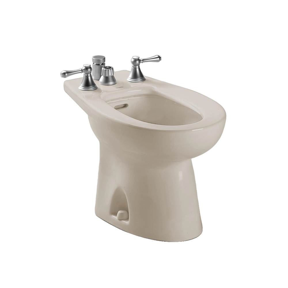 Toto Piedmont® Deck Mount Vertical Spray Flushing Rim Bidet, Bone