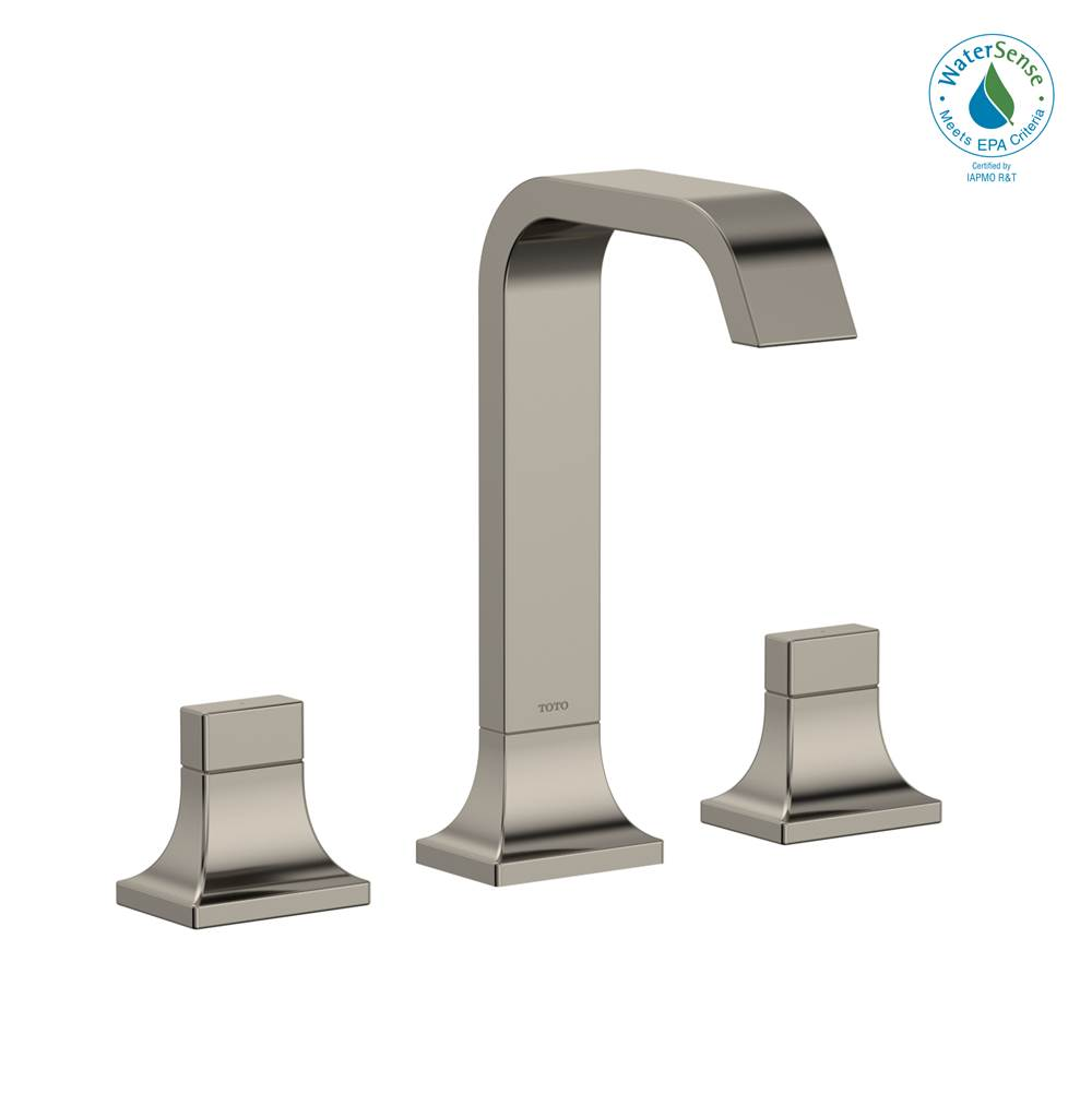 Toto GC 1.2 GPM Two Handle Widespread Bathroom Sink Faucet, Polished Nickel