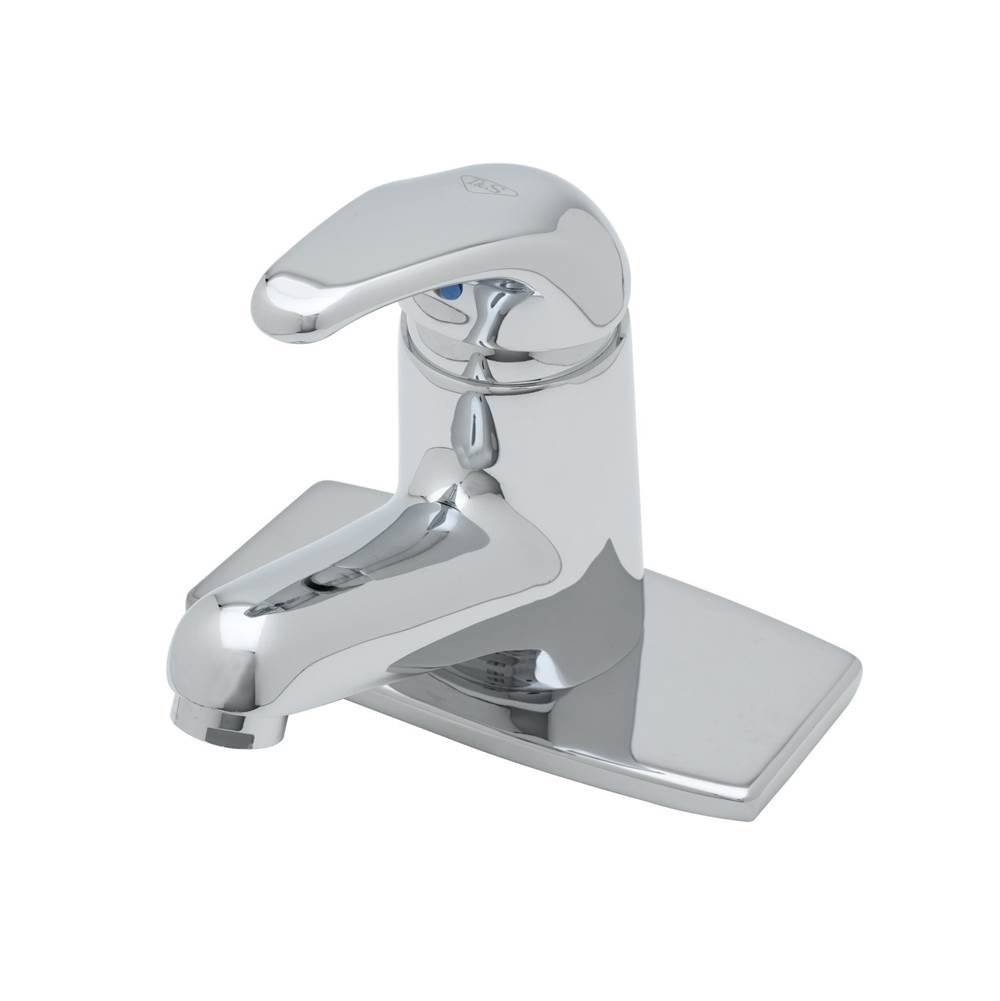 T&S Brass Single Lever Faucet, Ceramic Cartridge, VR 0.5 GPM Non-Aerated Spray Device, Deck Plate
