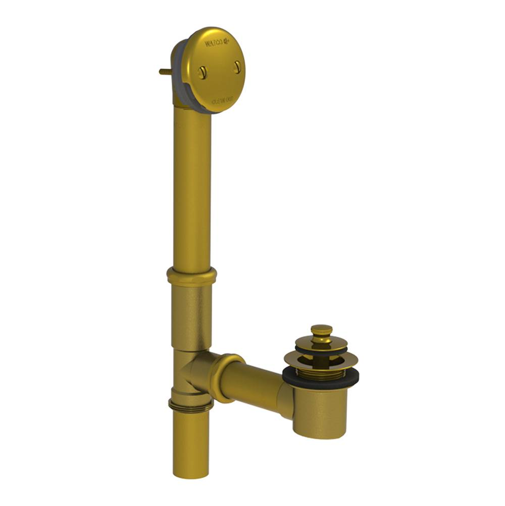 Watco Manufacturing PUSH PULL Bath Waste, Tubs to 24-In., 17-GA Brass BRS, Polished Brass ''PVD''