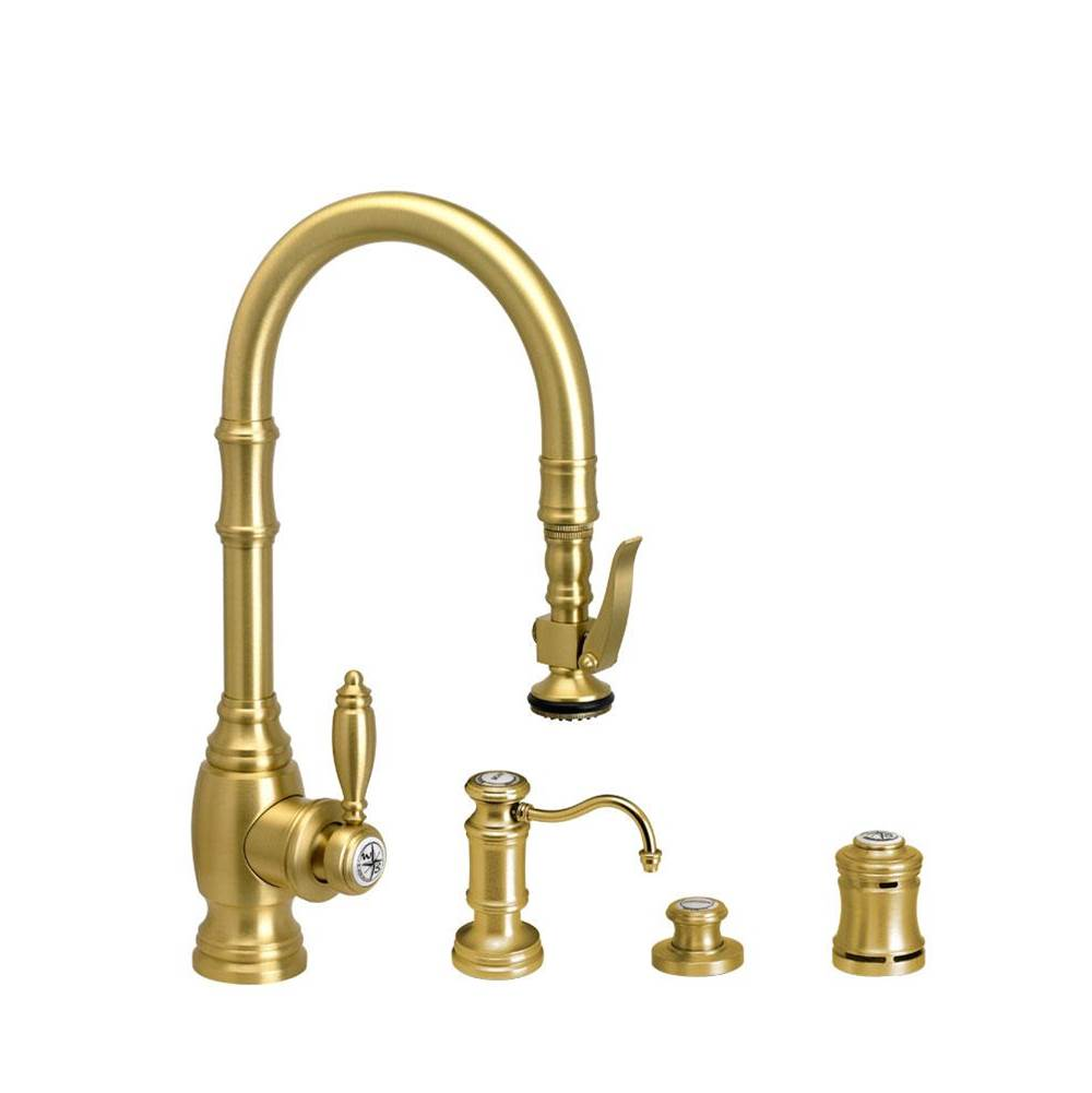 Waterstone Traditional Prep Size Plp Pulldown Faucet - 4Pc. Suite